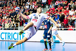 12.05.2017, Zatika Sport Centre, Porec, CRO, EHF EM, Herren, Österreich vs Frankreich, Gruppe B, im Bild Tobias Wagner (AUT) // during the preliminary round, group B match of the EHF men's Handball European Championship between Austria and France at the Zatika Sport Centre in Porec, Croatia on 2017/05/12. EXPA Pictures © 2018, PhotoCredit: EXPA/ Sebastian Pucher