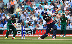 England's Alex Hales bats during the ICC Champions Trophy, Group A match at The Oval, London.
