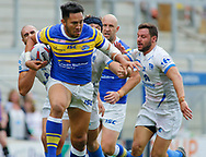 Nathaniel Peteru of Leeds Rhinos  on the attack against Toulouse Olympique during the Betfred Super 8s Qualifiers match at Emerald Headingley Stadium, Leeds<br /> Picture by Stephen Gaunt/Focus Images Ltd +447904 833202<br /> 11/08/2018