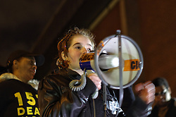 © London News Pictures. 08/02/2016. London, UK. A Vigil held outside HMP Holloway, London for Sarah Reed who was found dead in her cell. Authorities have launched an investigation into her death. Photo credit: Denis McWilliams/LNP