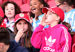Bristol City Women supporters at Ashton Gate - Mandatory by-line: Paul Knight/JMP - 22/04/2017 - FOOTBALL - Ashton Gate - Bristol, England - Bristol City Women v Reading Women - FA Women's Super League 1 Spring Series