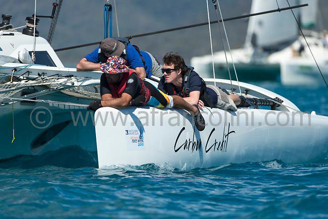 CARBON CREDIT during the 2015 Airlie Beach Race week.<br />