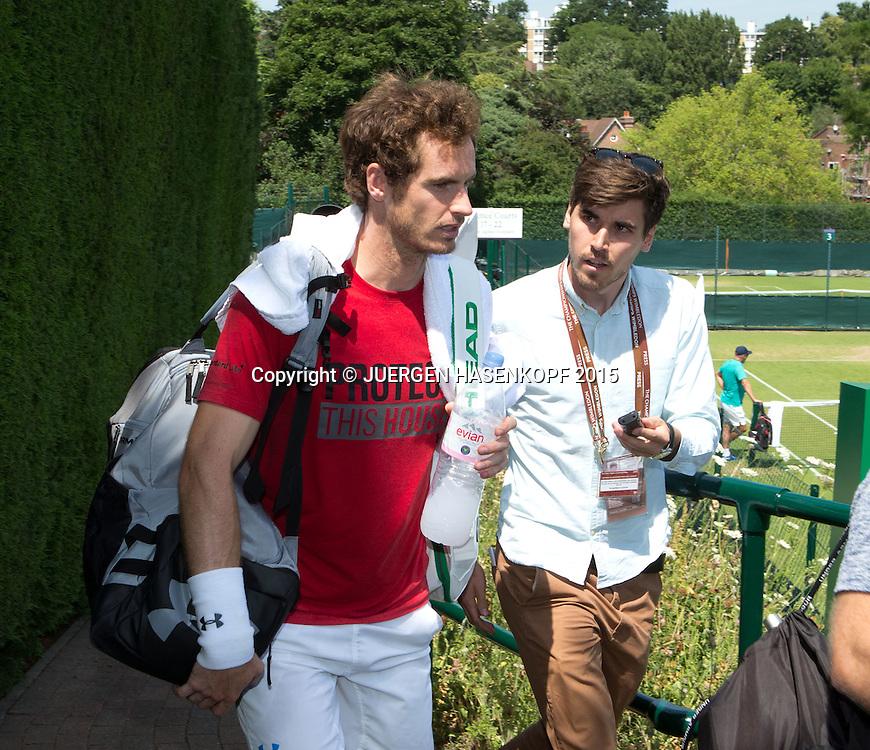 Andy Murray (GBR)<br /> <br /> Tennis - Wimbledon 2015 - Grand Slam ITF / ATP / WTA -  AELTC - London -  - Great Britain  - 3 July 2015.