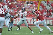 Ole Miss quarterback Jeremiah Masoli (8) against the Arkansas Razorbacks at Reynolds Razorback Stadium in Fayetteville, Ark. on Saturday, October 23, 2010.