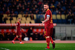 03.02.2019, Stadio Olimpico, Rom, ITA, Serie A, AS Roma vs AC Milan, 22. Runde, im Bild de rossi // de rossi during the Seria A 22th round match between AS Roma and AC Milan at the Stadio Olimpico in Rom, Italy on 2019/02/03. EXPA Pictures &copy; 2019, PhotoCredit: EXPA/ laPresse/ Alfredo Falcone<br /> <br /> *****ATTENTION - for AUT, SUI, CRO, SLO only*****