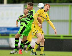 Rory Gaffney of Bristol Rovers battles Lee Collins of Forest Green Rovers for the ball - Mandatory by-line: Paul Roberts/JMP - 22/07/2017 - FOOTBALL - New Lawn Stadium - Nailsworth, England - Forest Green Rovers v Bristol Rovers - Pre-season friendly