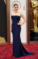 Amy Adams arriving to the 2014 Oscars at the Hollywood and Highland Center in Hollywood, California, USA,  Sunday, 2nd March 2014. Picture by Hollywood Bubbles / i-Images<br /> UK ONLY