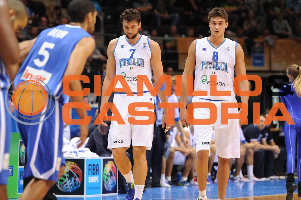 DESCRIZIONE : Siauliai Lithuania Lituania Eurobasket Men 2011 Preliminary Round Italia Francia Italy France<br /> GIOCATORE : Andrea Bargnani Danilo Gallinari<br /> CATEGORIA : Delusione<br /> SQUADRA : Italia Francia Italy France<br /> EVENTO : Eurobasket Men 2011<br /> GARA : Italia Francia Italy France<br /> DATA : 04/09/2011 <br /> SPORT : Pallacanestro <br /> AUTORE : Agenzia Ciamillo-Castoria/GiulioCiamillo<br /> Galleria : Eurobasket Men 2011 <br /> Fotonotizia : Siauliai Lithuania Lituania Eurobasket Men 2011 Preliminary Round Italia Francia Italy France<br /> Predefinita :