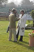 Sarah Cutteridge and Yogi Briesner. The Land Rover Burghley Horse Trials. 4 September. ONE TIME USE ONLY - DO NOT ARCHIVE  © Copyright Photograph by Dafydd Jones 66 Stockwell Park Rd. London SW9 0DA Tel 020 7733 0108 www.dafjones.com
