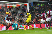 Aston Villa's Ahmed Elmohamady scores an own goal, 2-1 during the EFL Sky Bet Championship match between Aston Villa and Burton Albion at Villa Park, Birmingham, England on 3 February 2018. Picture by John Potts.
