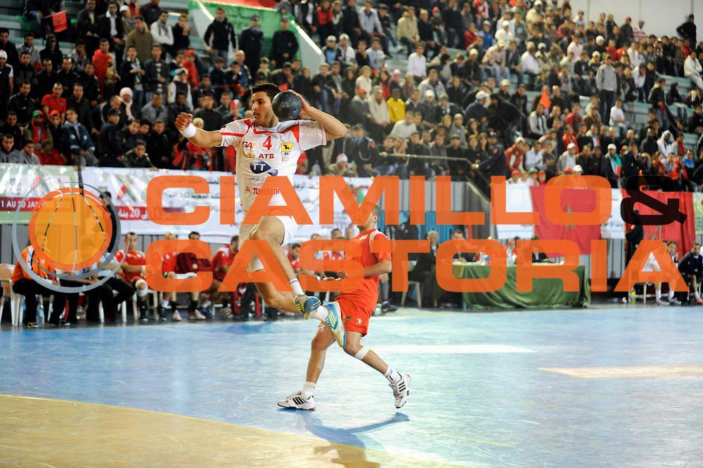 DESCRIZIONE : France Hand Coupe Afrique des Nations Homme Maroc Rabat<br /> GIOCATORE : Toumi Aymen<br /> SQUADRA : Tunisie<br /> EVENTO : FRANCE Hand CAN<br /> GARA : Maroc Tunisie<br /> DATA :19/01/2012<br /> CATEGORIA : Hand CAN<br /> SPORT : Handball<br /> AUTORE : JF Molliere <br /> Galleria : France Hand 2011-2012 Action<br /> Fotonotizia : CAN Hand RABAT Maroc Demi Finale<br /> Predefinita :