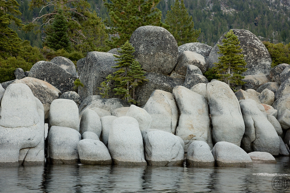 """Boulders at Sand Harbor 1"" - These granite boulders were photographed at Sand Harbor, Lake Tahoe."