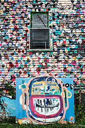 Dottie Dot House, Heidelberg Project, Detroit, Michigan.  The Heidelberg Project is a grass roots project started by artist Tyree Guyton that uses art to help revitalize the embattled neighborhood.  Each year, over 275,000 people visit the project .  For more information, go to www.heidelberg.org