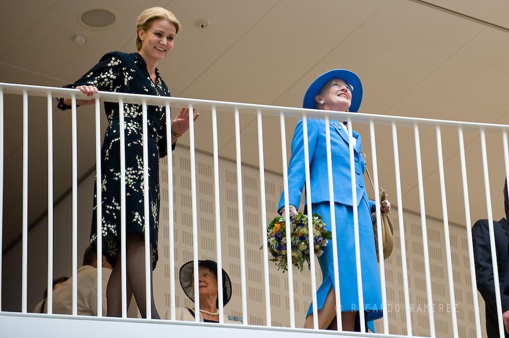 04.07.2013. Copenhagen, Denmark.Queen Margrethe II and The Prime Minister, Helle Thorning-Schmidt attend the officially opened UN City in CopenhagenPhoto:© Ricardo Ramirez
