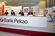 (L-R) Luigi Lovagio and Piotr Krzystek and Krzysztof Bobala press conference before tennis tournament Pekao Szczecin Open 2013 in Pekao Bank in Warsaw..<br /> <br /> Poland, Warsaw, September 09, 2013<br /> <br /> Picture also available in RAW (NEF) or TIFF format on special request.<br /> <br /> For editorial use only. Any commercial or promotional use requires permission.<br /> <br /> Photo by &copy; Adam Nurkiewicz / Mediasport