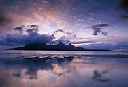Rum at dusk, from Eigg
