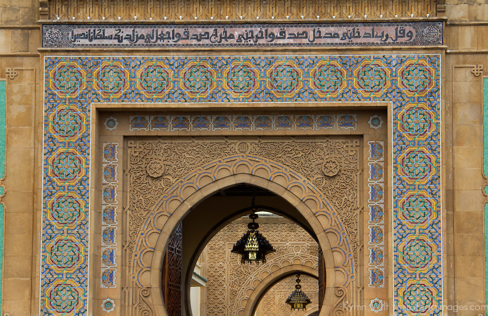 Africa, Morocco, Rabat. Ornate Gate of Royal Palace of Rabat.