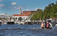 AMSTERDAM - Varen op de Amstel met Stadhuis, Opera, Stopera, ANP COPYRIGHT KOEN SUYK