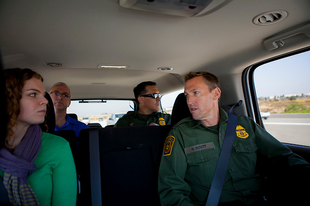 Lisa Halverstadt rides along with U.S. Customs and Border Patrol Deputy Chief Patrol Agent Rodney Scott on the way to the U.S.-Mexico border.