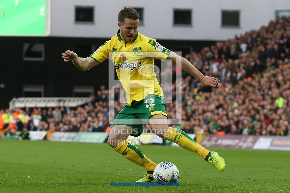 Marley Watkins of Norwich in action during the Sky Bet Championship match at Carrow Road, Norwich<br /> Picture by Paul Chesterton/Focus Images Ltd +44 7904 640267<br /> 28/10/2017