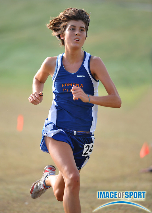 """Sep 6, 2008; Irvine, CA, USA; Alicia Freese of Pomona-Pitzer was second in the womens """"B"""" race in 18:44 in the UC Irvine Invitational at the Anteater Recreation Center Fields."""