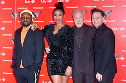 © Licensed to London News Pictures. 03/01/2019. London, UK. WILL.I.AM, JENNIFER HUDSON, SIR TOM JONES and OLLIE MURSattends the The Voice UK 2019 ITV press launch. Photo credit: Ray Tang/LNP