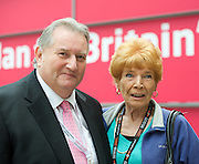 Labour Party Conference <br /> at Manchester Central, Manchester, Great Britain <br /> 23rd September 2014 <br /> <br /> <br /> Paul Kenny <br /> General Secretary of the GMB<br /> Mary Turner<br /> dinner lady <br /> <br /> Photograph by Elliott Franks <br /> Image licensed to Elliott Franks Photography Services