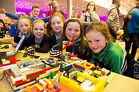 REPRO FREE:   Alanah Dolan, Alaise McHugh, Sophie Kelly, Alana Smyth  and Naomi Faulkner from Kilglass National School at the Junior FIRST Lego League run by Galway Education Centre, in Galmont Hotel &amp; Spa.<br />  Photo: Andrew Downes, XPOSURE