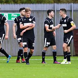 St Mirren score their second goal  during the Dumbarton v St Mirren Scottish Championship 14 October 2017<br /> <br /> <br /> <br /> <br /> <br /> (c) Andy Scott | SportPix.org.uk