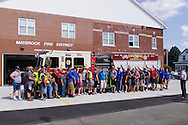 Maybrook, New York - The Maybrook Fire Department held a wet down for its  new E-218 truck at the firehouse on Sept. 19, 2015.
