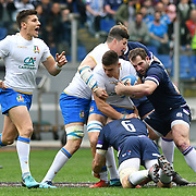 Roma 17/03/2018 Stadio Olimpico<br /> Natwest 6 nations Italia v Scozia<br /> Jake Polledri e Sebastian Negri