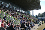The East Stand at The New Lawn, home of Forest Green Rovers during the EFL Sky Bet League 2 match between Forest Green Rovers and Cheltenham Town at the New Lawn, Forest Green, United Kingdom on 20 October 2018.