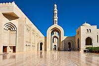 Sultanat d'Oman, Mascate, la Grande Mosquée du Sultan Qaboos // Sultant of Oman, Muscat, Sultan Qaboos Grand Mosque