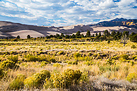 Autumn season at the Great Sand Dunes National Park and Preserve, Colorado.