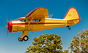 Stinson Gull Wing on final approach at Peachstate Aerodrome in Williamson, Georgia.