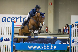 Franken Evelyne, BEL, Reichsgraf Drum vh Juxschot<br /> Nationaal Indoorkampioenschap  <br /> Oud-Heverlee 2020<br /> © Hippo Foto - Dirk Caremans