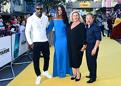 Idris Elba (left), Sabrina Dhowre (second right), Hannah Walters and Stephen Gragam (right) attending the Yardie premiere at the BFI Southbank in London. PRESS ASSOCIATION Photo. Picture date: Tuesday August 21, 2018. See PA story SHOWBIZ Yardie. Photo credit should read: Ian West/PA Wire