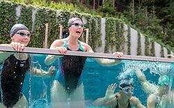 23.06.2017, Hotel Forsthofgut, Leogang, AUT, OeSV, Schwimmtraining Damen Speed Team, im Bild Tamara Tippler (AUT), Cornelia Hütter (AUT), Sabrina Maier (AUT) // during a swimmtraining of the Austrian Ladies Speed Team at the Hotel Forsthofgut, Leogang, Austria on 2017/06/23. EXPA Pictures © 2017, PhotoCredit: EXPA/ JFK