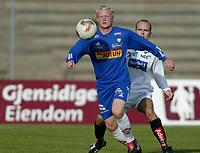 Fotball. 1. divisjon Sandefjord - Åsane 29. september. Jon Midttun Lie, Sandefjord.<br /> <br /> Foto: Andreas Fadum, Digitalsport
