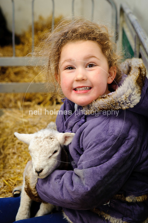 Lambing Sunday, 27th March 2011 at Bishop Burton College. Pictured Megan Saunby with a newborn lamb