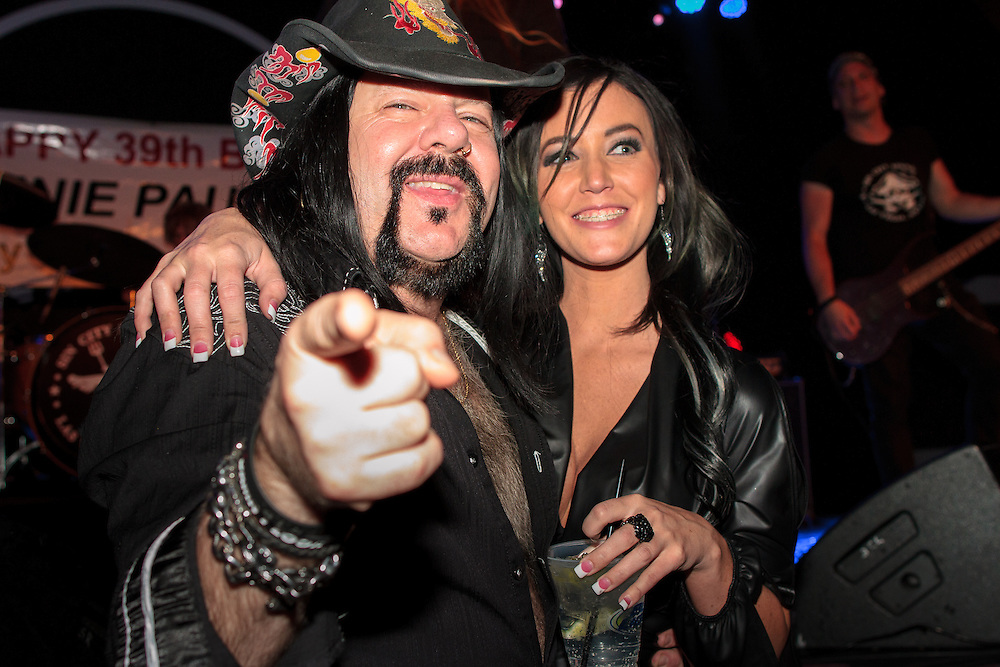 Vinnie Paul and girlfriend<br />