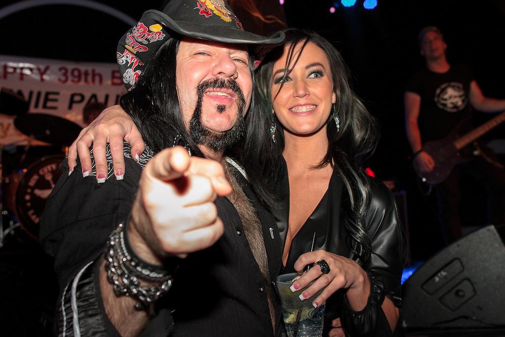 Vinnie Paul and girlfriend<br /> Vinnie Paul's Birthday Bash, March 11, 2014<br /> Hard Rock Hotel Casino, Las Vegas <br /> &copy;Karen Mandall | www.KarenMandall.com