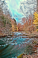 High Dynamic Range photo of the Ken Lockwood Gorge in fall right before a storm