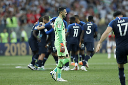 goalkeeper Danijel Subasic of Croatia during the 2018 FIFA World Cup Russia Final match between France and Croatia at the Luzhniki Stadium on July 15, 2018 in Moscow, Russia