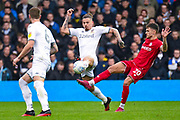 Leeds United midfielder Kalvin Phillips (23) and Bristol City forward Jamie Paterson (20) during the EFL Sky Bet Championship match between Leeds United and Bristol City at Elland Road, Leeds, England on 15 February 2020.