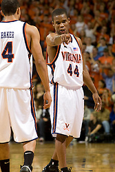 Virginia guard Sean Singletary (44) in action against BC.  The Virginia Cavaliers men's basketball team defeated the Boston College Golden Eagles 84-66 at the John Paul Jones Arena in Charlottesville, VA on January 19, 2008.