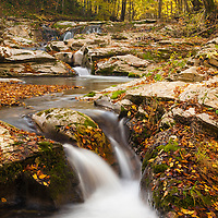 Small rver in Strandzha Mountain at autumn