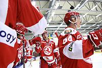 2020-02-12 | Ljungby, Sweden: Troja-Ljungby (25) Mattias Åkesson celebrating a goal during the game between IF Troja / Ljungby and Huddinge IK at Ljungby Arena ( Photo by: Fredrik Sten | Swe Press Photo )<br /> <br /> Keywords: Ljungby, Icehockey, HockeyEttan, Ljungby Arena, IF Troja / Ljungby, Huddinge IK, fsth200212, ATG HockeyEttan, Allettan