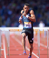 Orlando Ortega CUB wins the 110m hurdles during the IAAF  Diamond League Sainsbury's Birmingham Grand Prix at Alexander Stadium, Birmingham<br /> Picture by Alan Stanford/Focus Images Ltd +44 7915 056117<br /> 07/06/2015