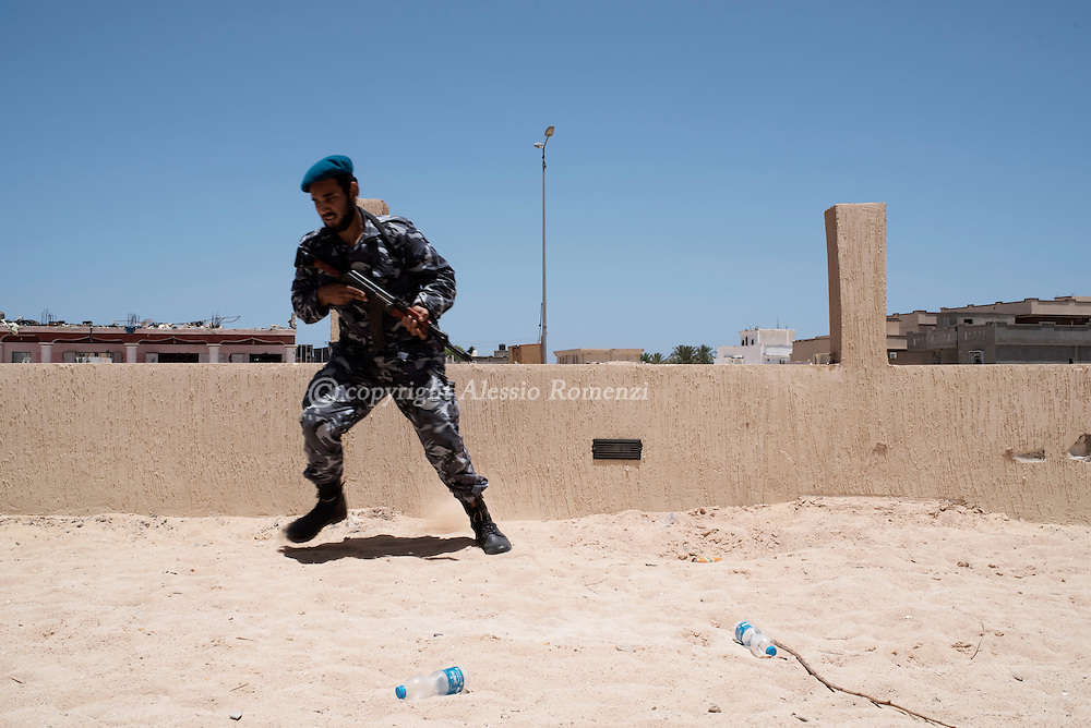 Libya: A Libya's Government of National Accord's (GNA) fighter run on the western frontline with ISIS in Sirte, Alessio Romenzi